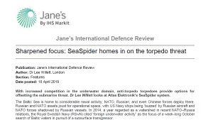 Article of SeaSpider in Jane's